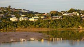 Obygdsbo flod Arkivfoton