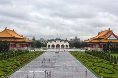 Obywatel Chiang Kai-shek Memorial Hall jest krajowym zabytkiem, punktem zwrotnym i atrakcją turystyczną wyprostowywającymi ku pam fotografia royalty free