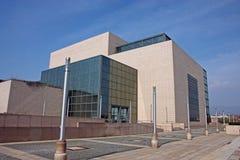 Obywatel i biblioteka uniwersytecka w Zagreb, Chorwacja obraz stock