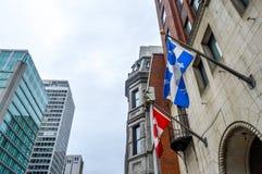Obywatel i Quebec flaga zdjęcie stock