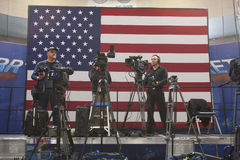 Obywatel prasa i TV kamerzyści Zdjęcie Royalty Free