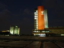Obywatela Autonomus uniwersytet Meksyk Obrazy Stock