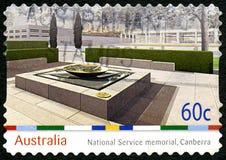 Obywatela Usługowy pomnik w Camberra australijczyka znaczku pocztowym Obraz Stock
