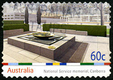 Obywatela Usługowy pomnik w Camberra australijczyka znaczku pocztowym Zdjęcie Royalty Free