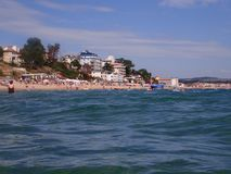 Beach at Obzor, Bulgaria Royalty Free Stock Photo