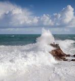 Océan à Biarritz Photos libres de droits
