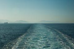Océan étonnant Grèce Corfou de plage Images libres de droits