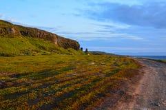 Océan arctique, coucher du soleil photo stock