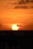 Océan au coucher du soleil image stock