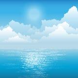 océan au-dessus du soleil Photos stock