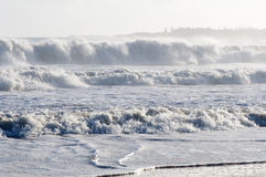 Océan blanc fâché Photo libre de droits