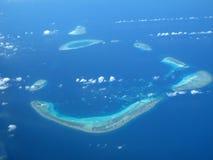 océan corallien d'île Photo libre de droits