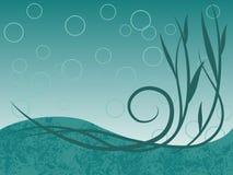 Océan d'Aqua illustration de vecteur