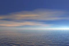 océan d'horizontal Photographie stock