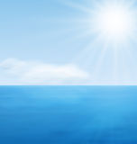 Océan de bleu de calme de paysage de mer Images stock