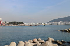 Océan de Busan Photographie stock