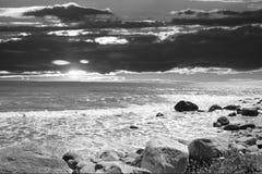 Océan de ciel de tempête Image stock