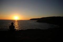 Océan de coucher du soleil Photographie stock libre de droits
