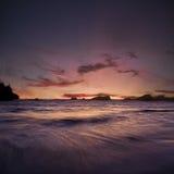 Océan de coucher du soleil de l'Orégon Image libre de droits