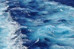 Océan de couleur de crayon Images libres de droits