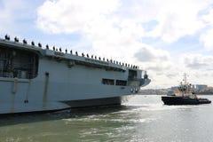 Océan de HMS arrivant à Sunderland, le 1er mai 2015 image libre de droits