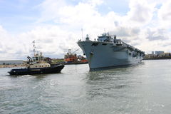 Océan de HMS arrivant à Sunderland, le 1er mai 2015 photographie stock