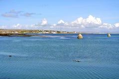 Océan de l'Irlande d'île d'Arran Image libre de droits