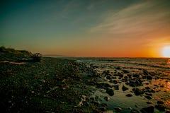 Océan de mer égalisant SAKHALINE photographie stock