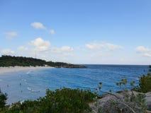 Océan de négligence d'une falaise Image libre de droits