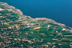 Océan de paysage de côte de vue aérienne, tropical photos stock