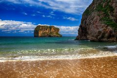 océan de plage de paysage en Asturies, Espagne Photo libre de droits