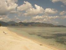 Océan de turquoise et plage de paradisiaque images libres de droits