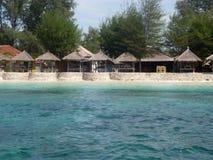 Océan de turquoise et plage de paradisiaque photographie stock libre de droits