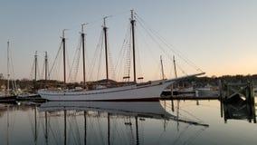 Océan du Maine de bateau à voile photographie stock libre de droits