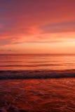 Océan du rouge Photos libres de droits