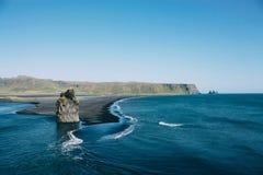 Océan en Islande, beau paysage Images libres de droits