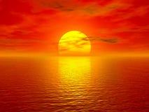 Océan et coucher du soleil Photo libre de droits