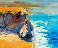 Océan et falaises illustration stock
