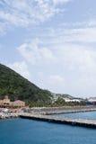 Océan et montagne - course d'île de Vierge des USA Images stock