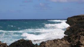 Océan et roche banque de vidéos