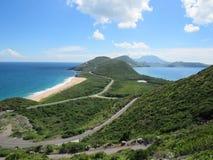 Océan et vue des Caraïbes Image libre de droits