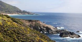 océan impressionnant Pacifique de côte de la Californie images stock