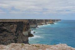 Océan méridional grand de littoral de falaise Photos stock