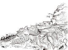 Océan magique illustration stock