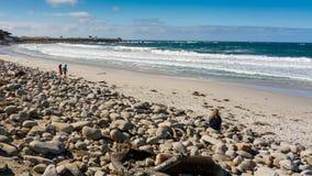 Océan péninsule près de Pebble Beach, Pebble Beach, Monterey, Calif Image stock