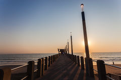 Océan Pier South Beach Morning de Durban images stock