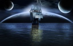 Océan sur la planète étrangère Image stock