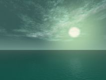 Océan vert Photographie stock