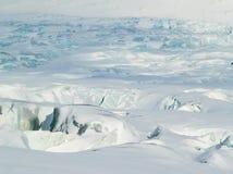 Océano ártico - hielo azul del glaciar Fotos de archivo