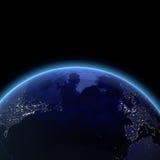 Océano Atlántico del espacio stock de ilustración